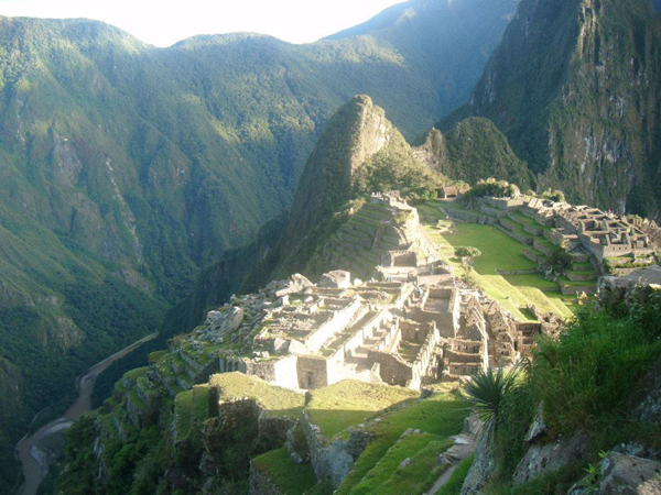 View from the guard house at Machu Picchu