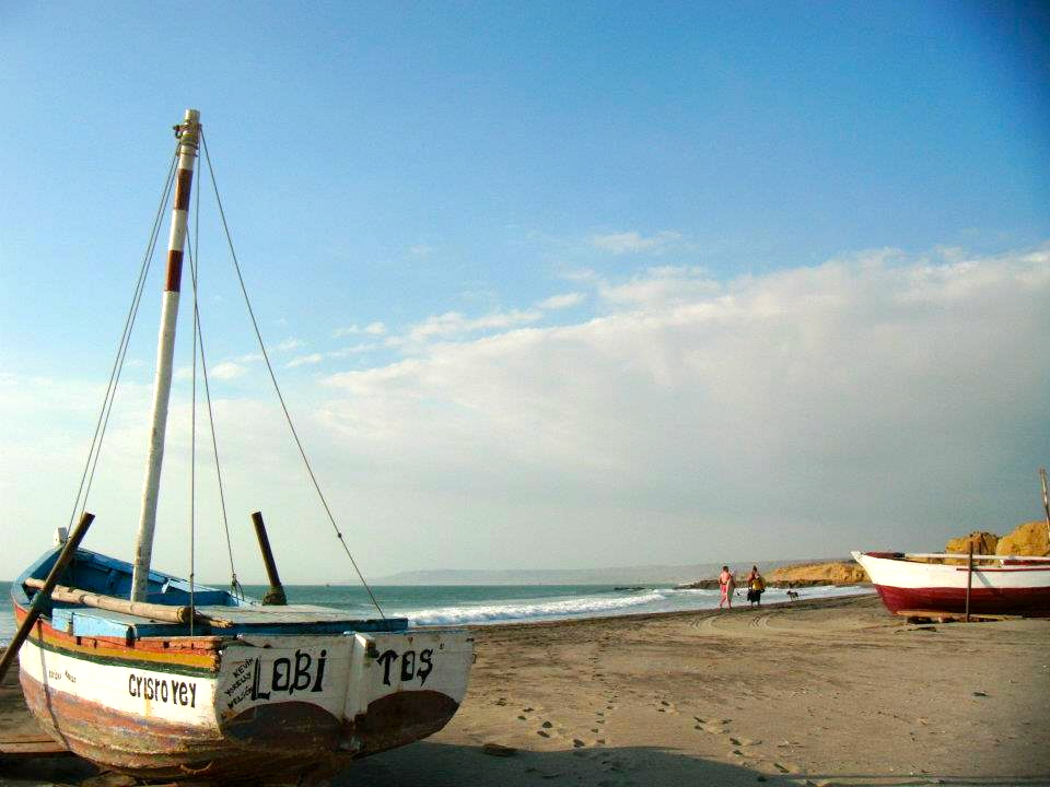 Lobitos Peru Boats on Beach
