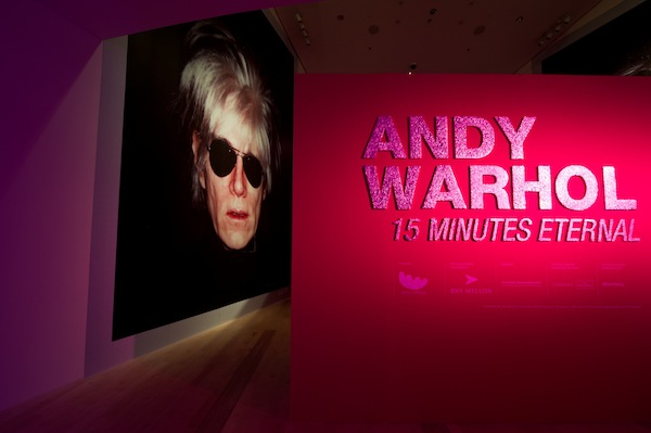 Andy Warhol 15 Minutes Eternal, Exhibition Entrance