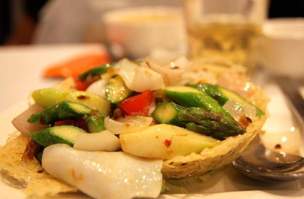 Jumbo Seafood Restaurant Stir Fried Cuttlefish & Asparagus with X.O. Sauce