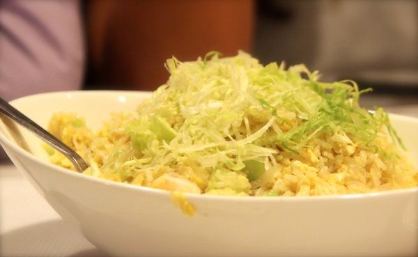Jumbo Seafood Restaurant Review Seafood Fried Rice with Seasonal Greens