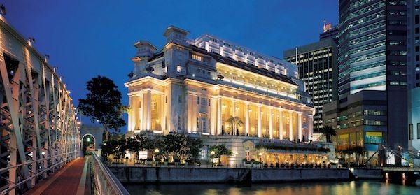 Fullerton Hotel Singapore Facade