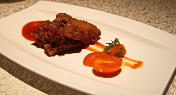 Hai Tien Lo Restaurant in Pan Pacific Review Pan-fried Beef Tenderloin with Sesame Sauce