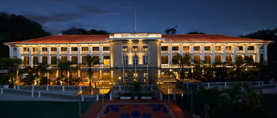 Hotel Fort Canning Facade Night