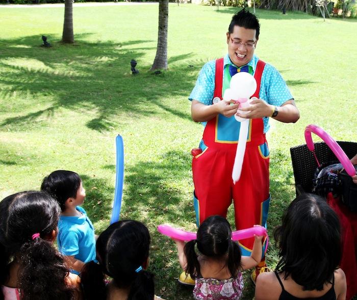 Garden Party by the Sea Shangri-La's Rasa Sentosa Resort Clown