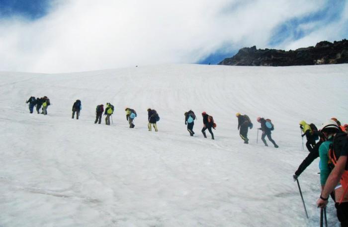 Climbing Mt Villarica in Pucon Chile