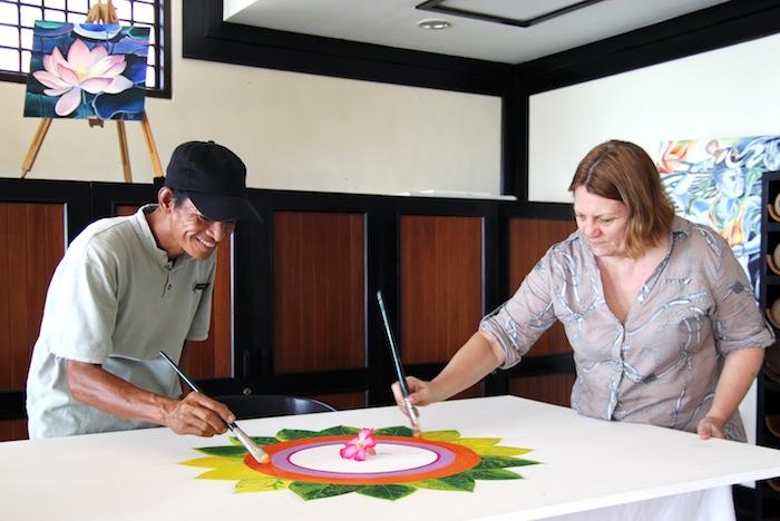 Wantilan Restaurant Spa Village Resort Tembok Bali Painting