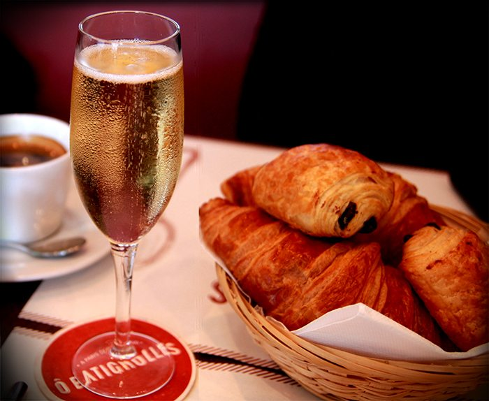 O Batignolles Champagne and Croissants Brunch
