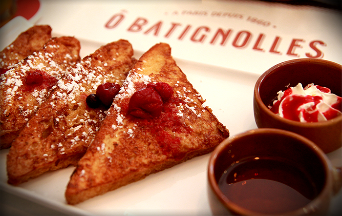 O Batignolles Singapore French Toast