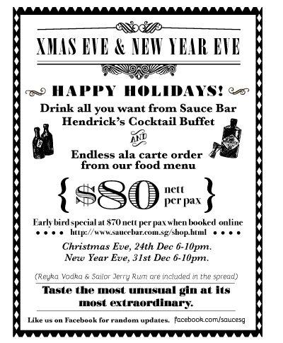 Hendrick's Cocktail Buffet at Sauce Bar