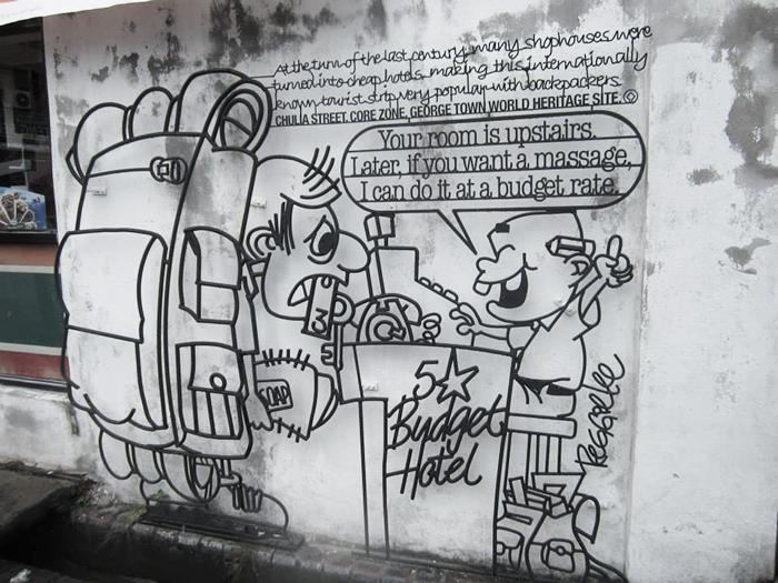 Penang Street Art Iron Sculptures