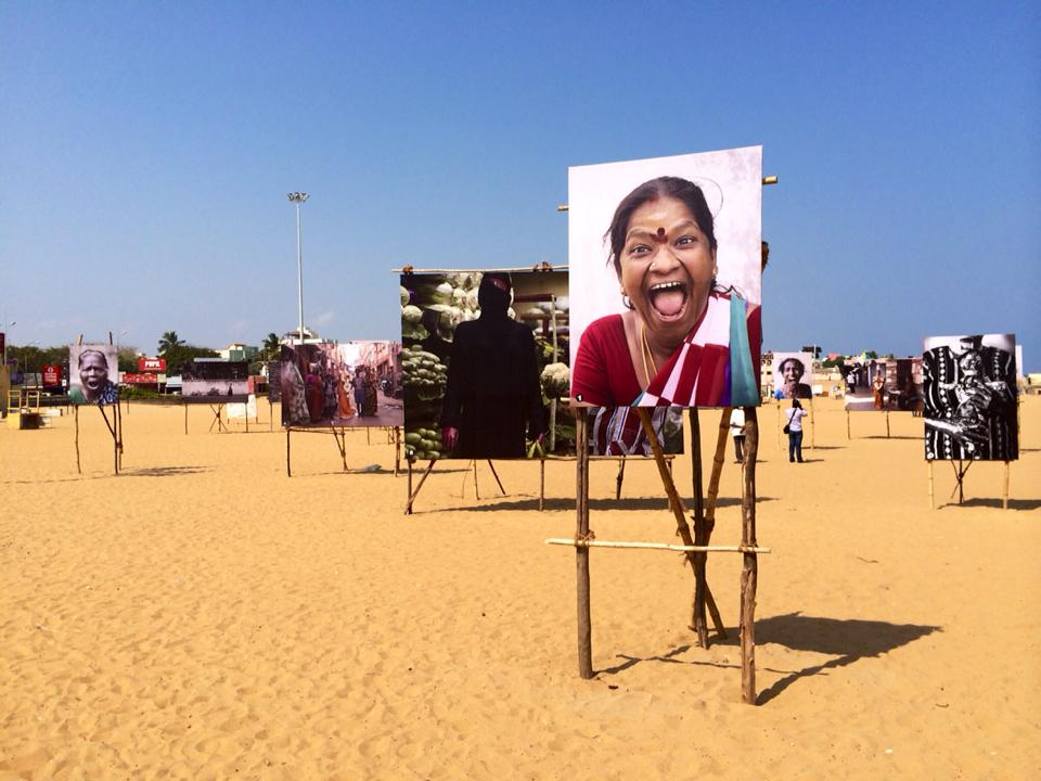 Stopover in Chennai beach