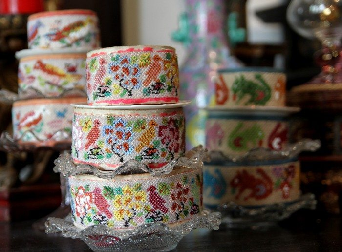 The Intan Beaded Kueh Containers