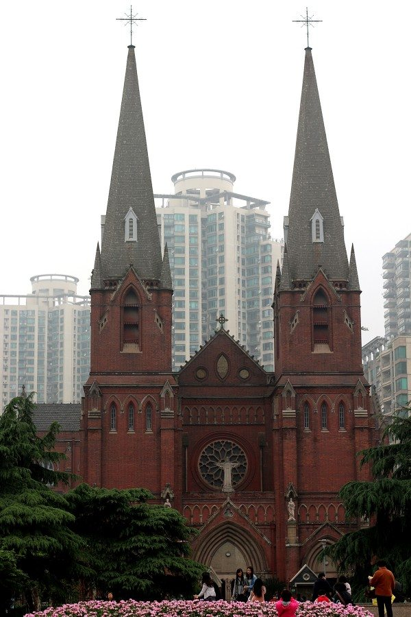 St. Ignatius Cathedral French Concession District Shanghai