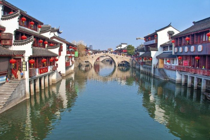 Qibao, China, Qibao is a very touristic water town near Shanghai, during Chinese New Year