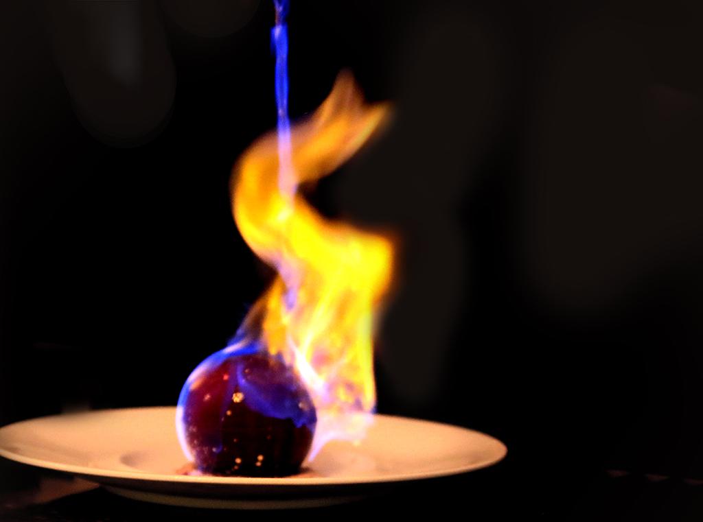 Singapore's Best Dessert Cafés - Henri Charpentier Flaming Dome Dessert