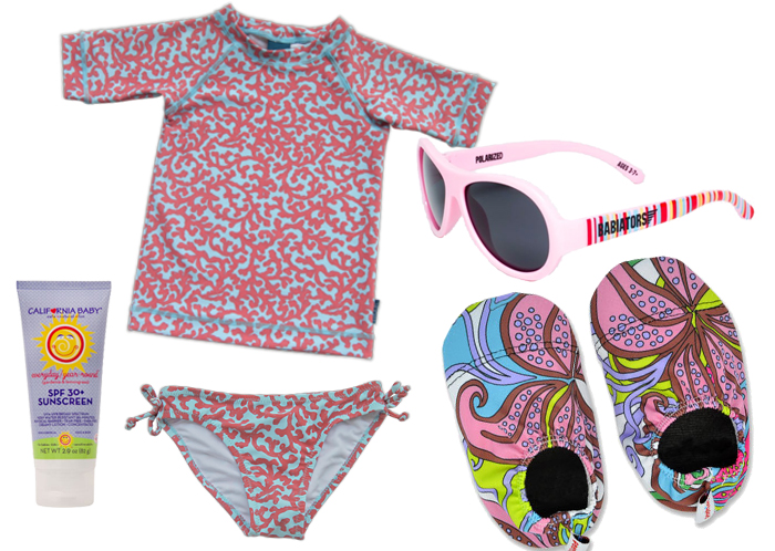 Pink Girls Beach Outfit