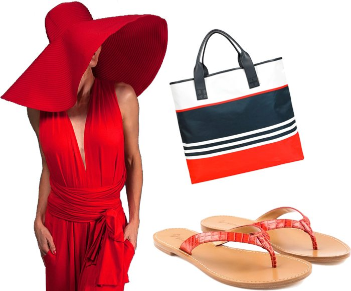 Red beach resort outfit singapore