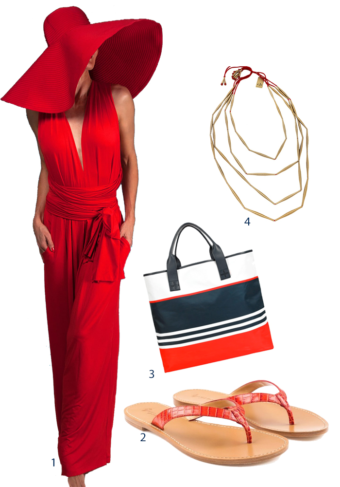 Red beach resort wear outfit Singapore