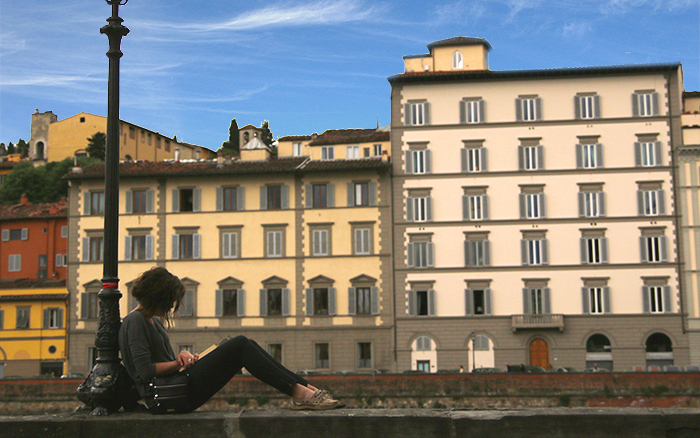 Lady reading in Florence