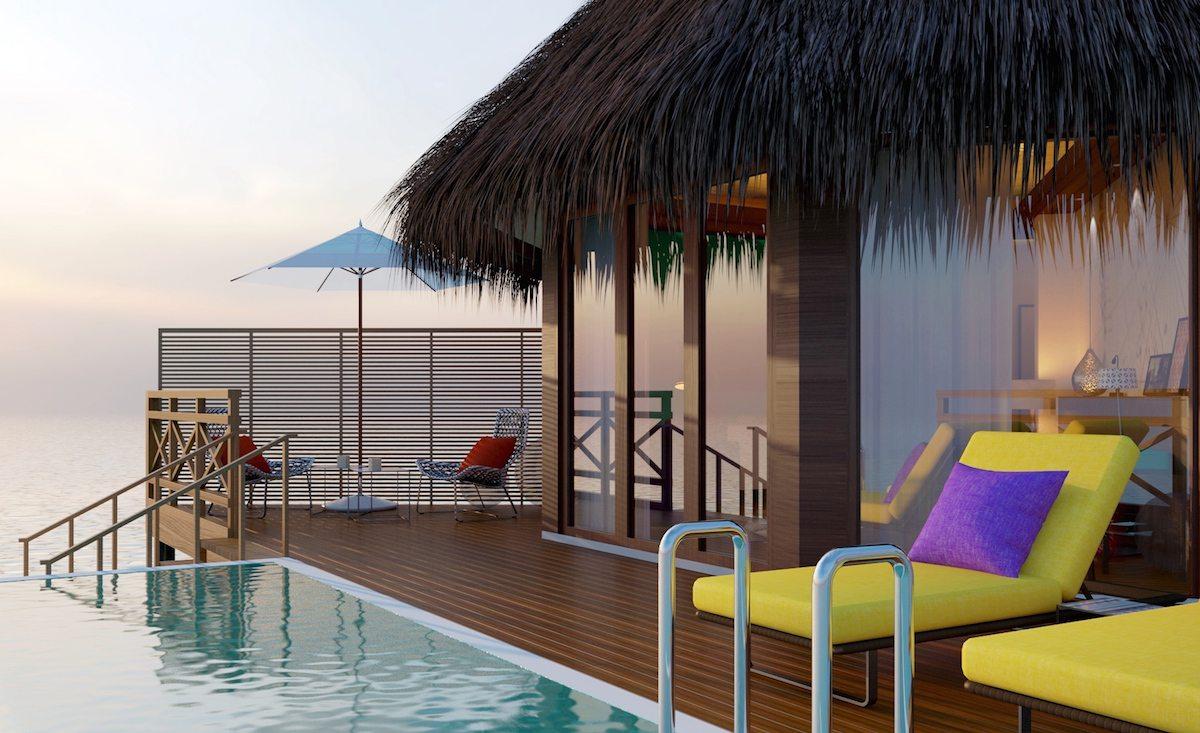 Mercure Maldives Kooddoo Resort - overwater villa exterior