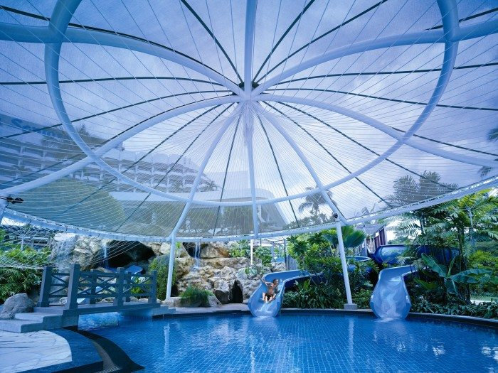 Children's pool and slides-Sunday Garden Party by the Sea