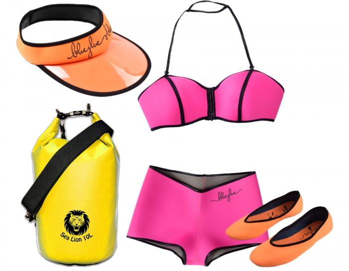 Neoprene Swimwear beach look