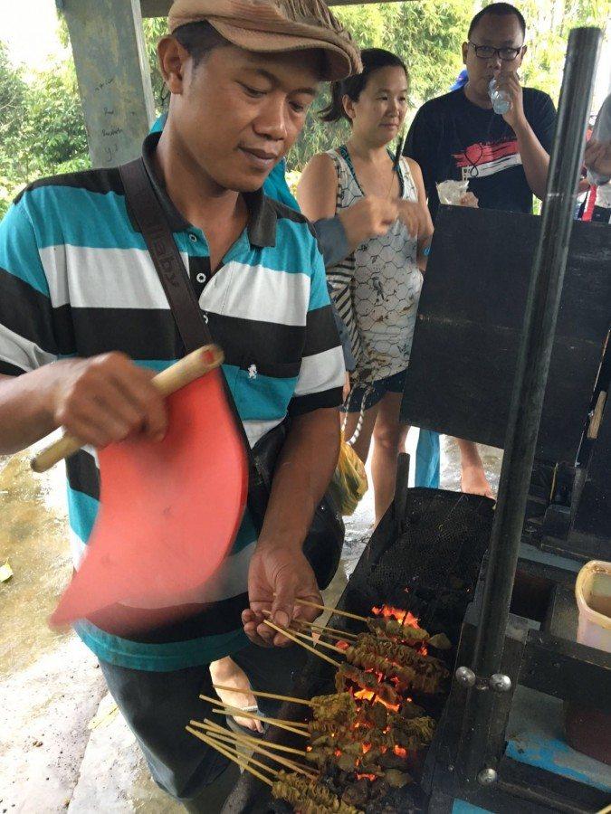 Sate Vender in Pagar Alam, South Sumatra