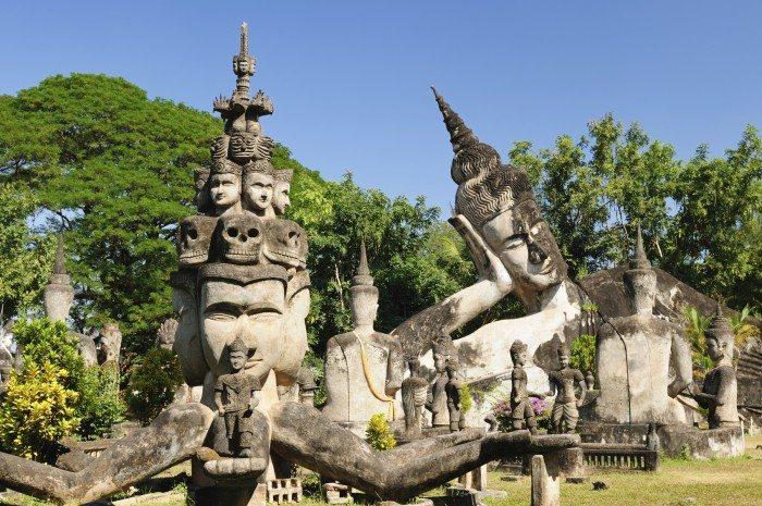 Laos, Xieng Khuan - buddha park near Vientiane.