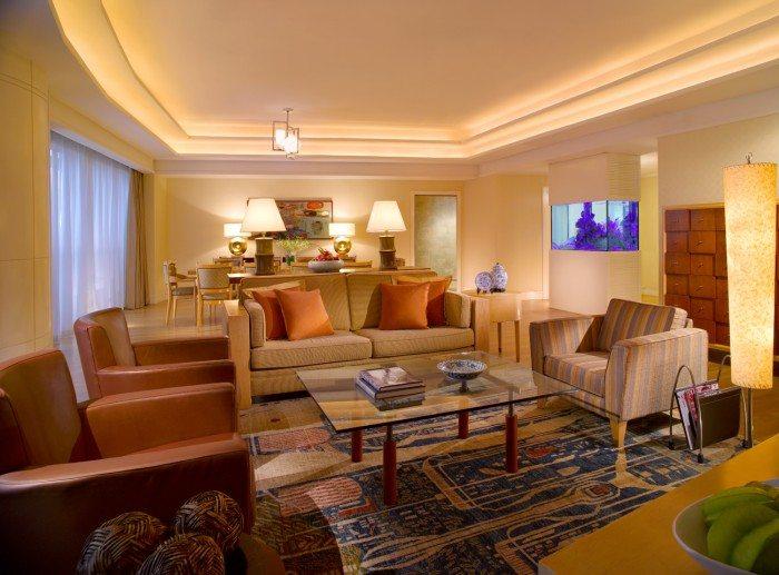 Fairmont Penthouse Suite Singapore -Living room