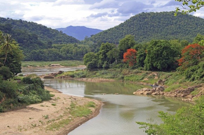 Khan river nearly Luang Prabang, Lao republic