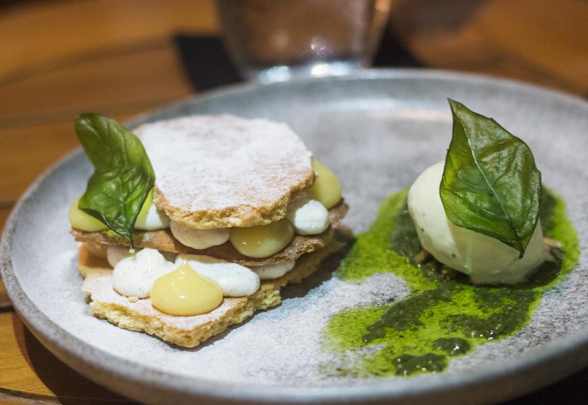 Grow Restaurant Bali Basil and Lemon Tart