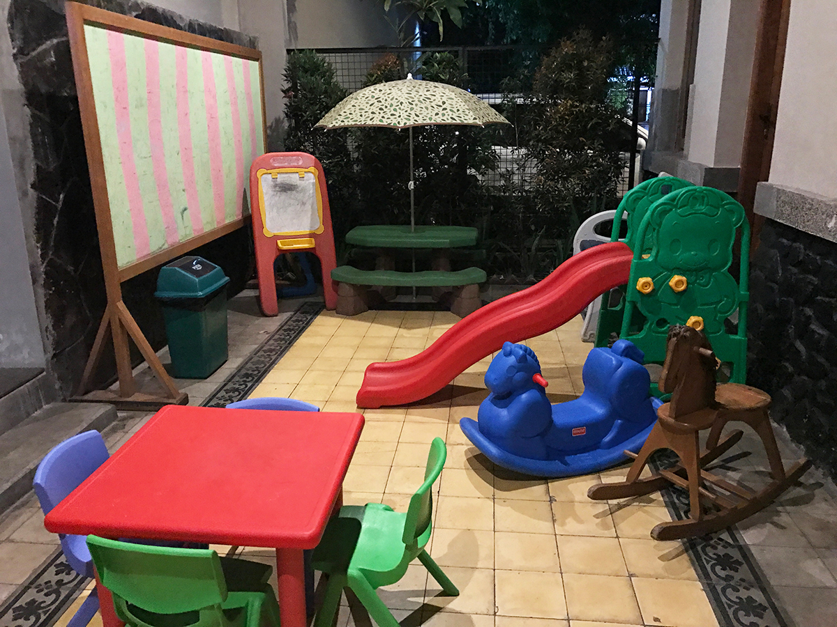 Playground at Hummingbird Cafe - Things to do in Bandung with kids